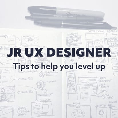 Note book and drawing tools of a UX Designer.