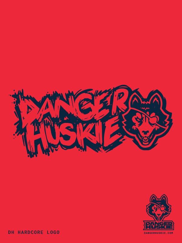 DangerHuskie logo centered over logo text.