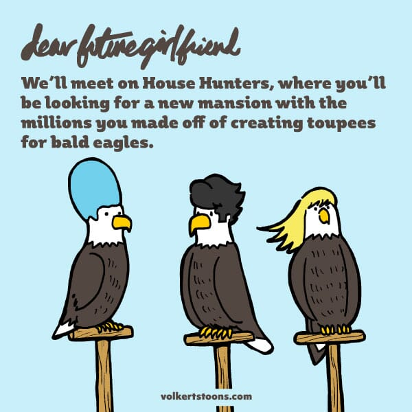 Just some bald eagles sporting some cool new hairdoos