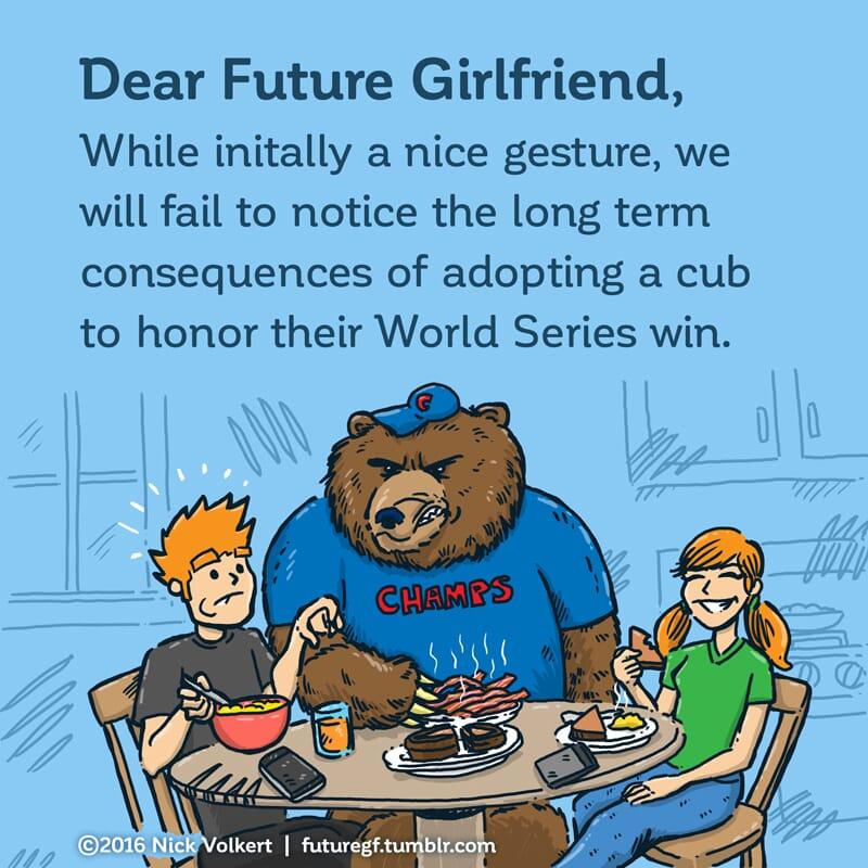 A full grown bear intimidates a man at breakfast.