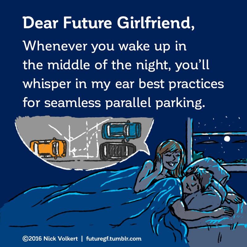A woman is whispering in a man's ear in bed.