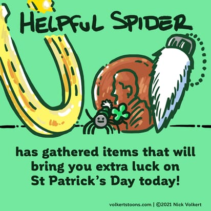 Helpful Spider has brought you some items to bring you extra luck this St Patrick's Day!