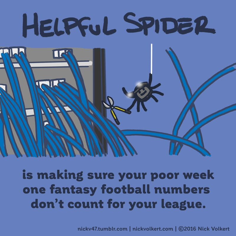 Helpful Spider is cutting some internet cables!