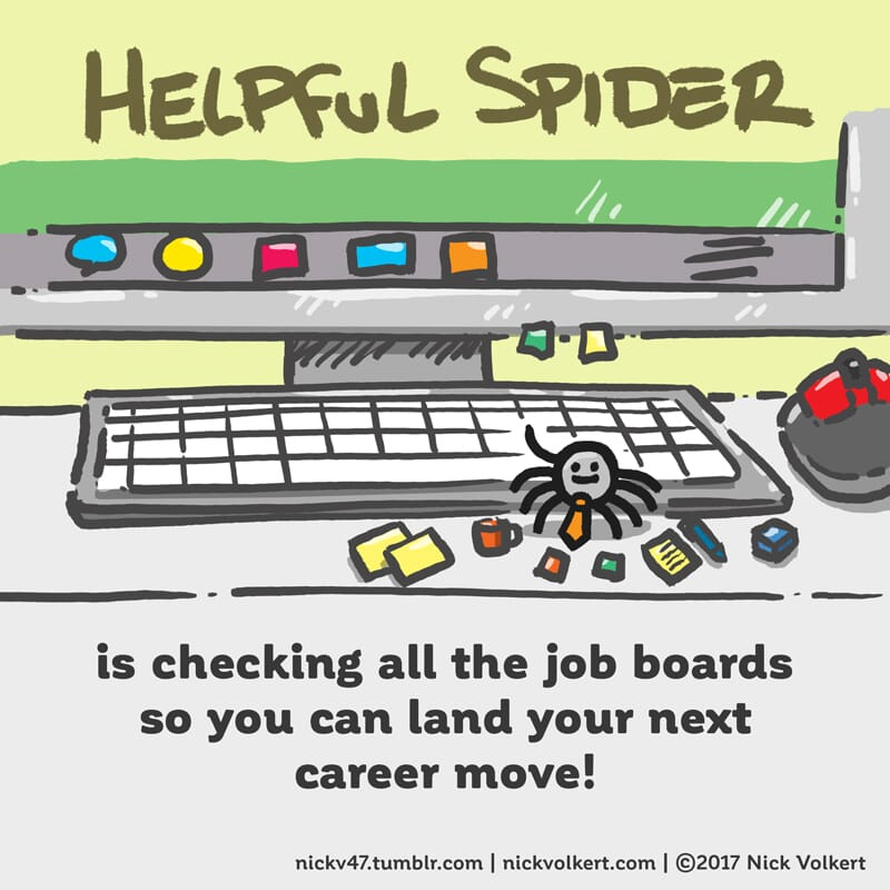Helpful Spider is searching for jobs on your behalf.