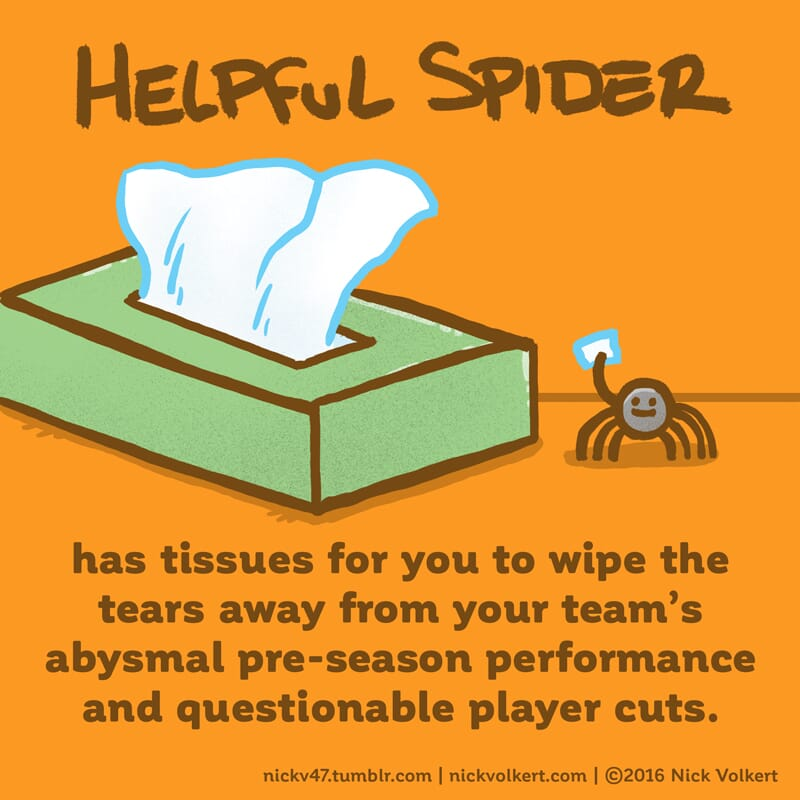 Helpful Spider is standing by with a box of tissues!