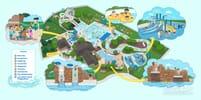 Full vector map of Mystic Waters water park.