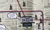 Detail of The White House from the Potbelly DC map