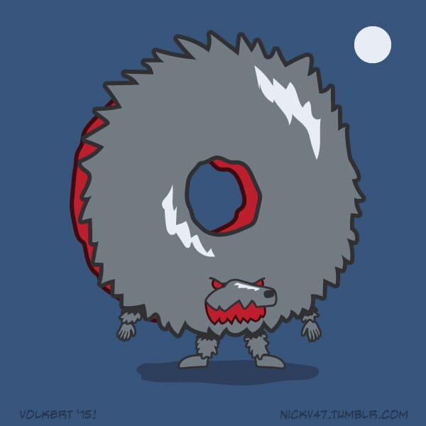 A donut that is a werewolf.