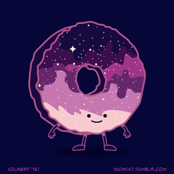 A donut that is full of stars.