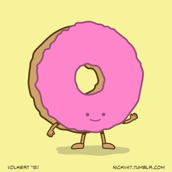 A strawberry donut.