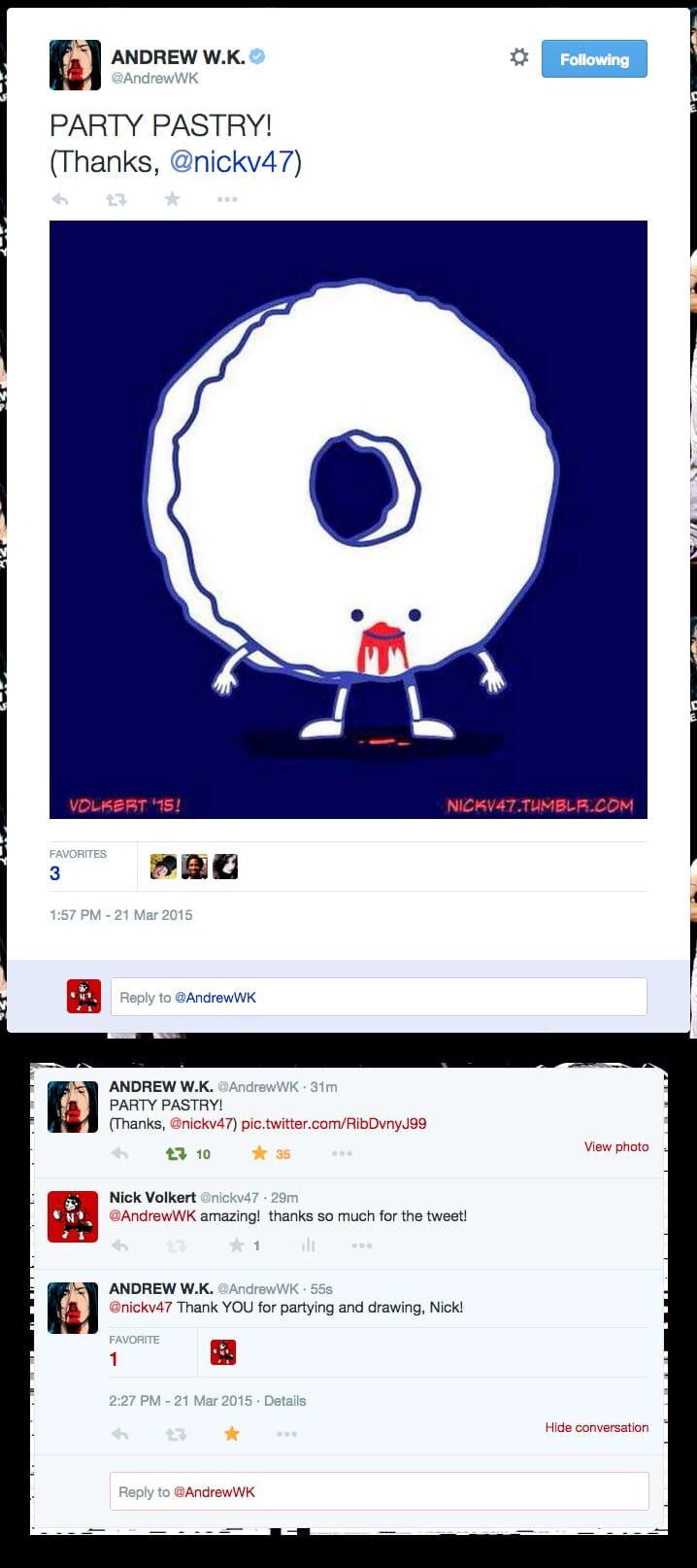 Andrew WK social media feature