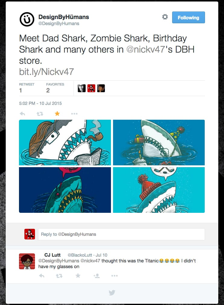 Promotion for shark week by Design by Humans