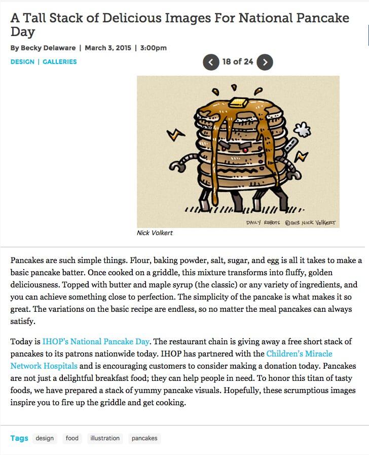 Pancake Bot feature on Paste Magazine