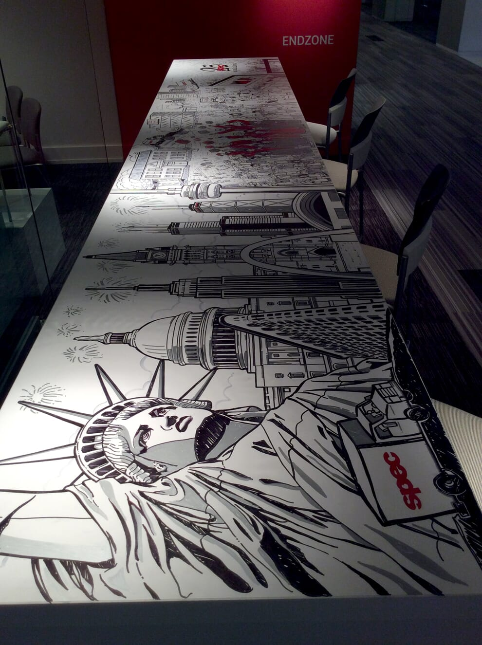Final mural for Spec Furniture in the Merchandise Mart