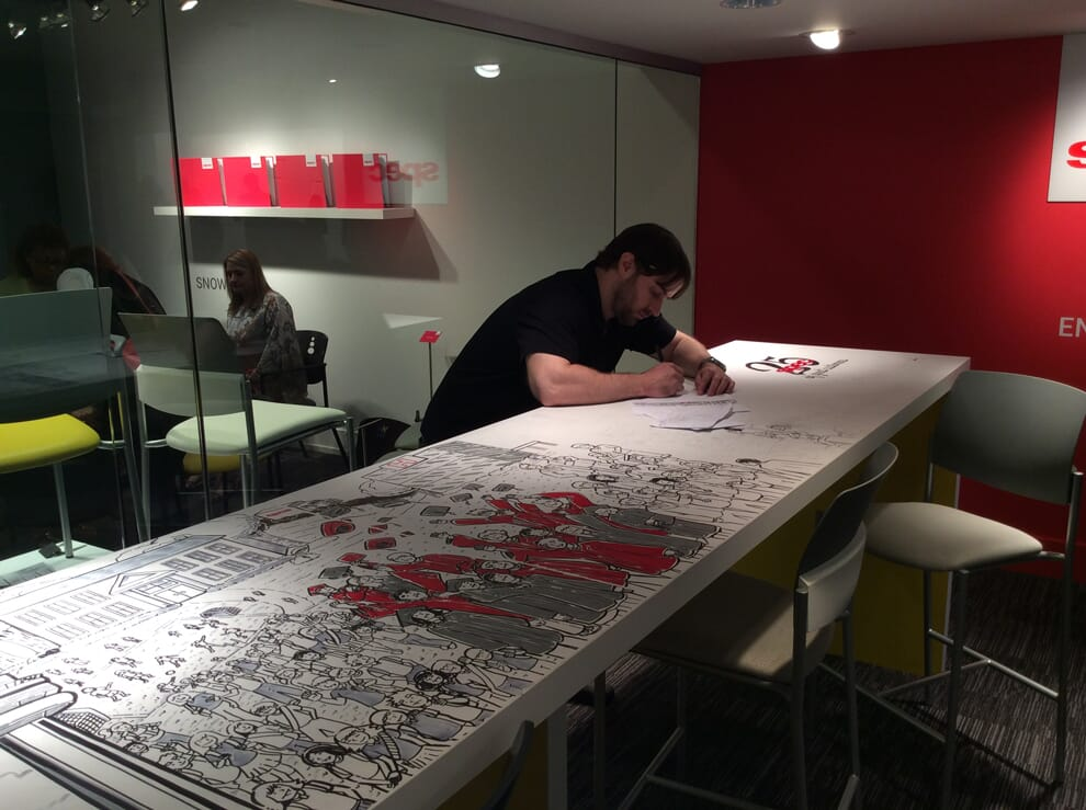 Complete mural for Spec Furniture in the Merchandise Mart