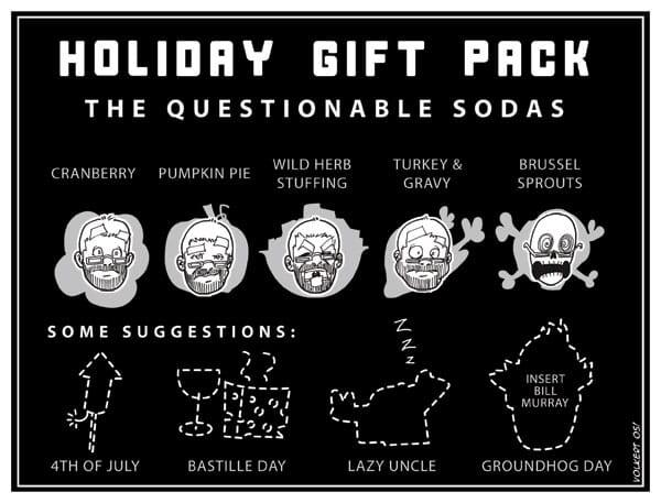 Diagram of questional seasonal sodas.